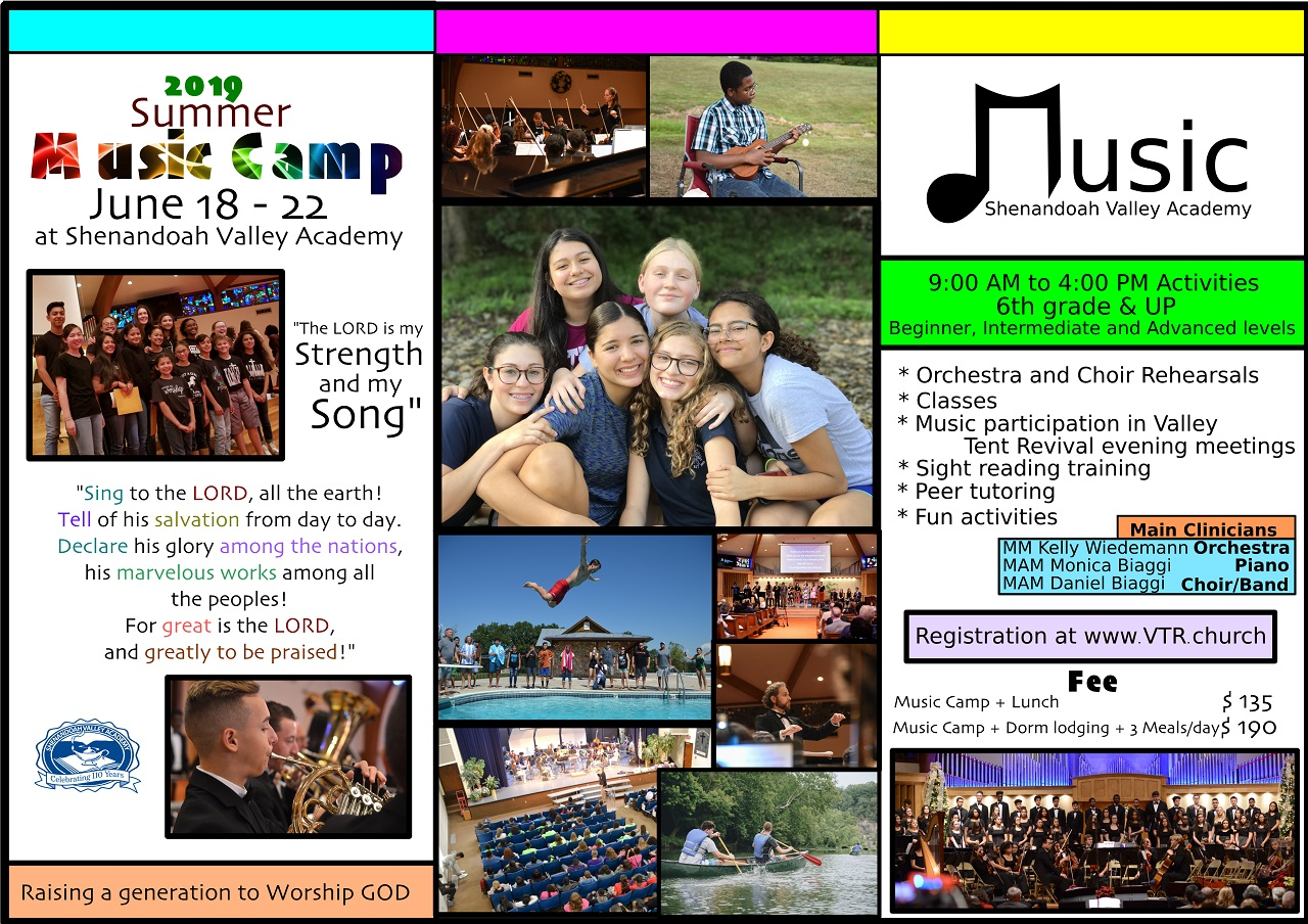 Summer camp music brochure