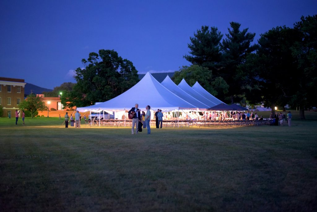 Valley Tent Revival Night View